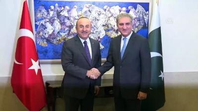 Dışişleri Bakanı Çavuşoğlu Pakistan Dışişleri Bakanı Kureyşi ile görüştü - İSLAMABAD