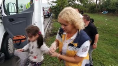Kazada yaralanan annelerinin başında 'Anneme bir şey olmasın' diyerek hüngür hüngür ağladılar
