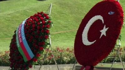 - Cumhurbaşkanı Erdoğan, Bakü'de Türk Şehitliğini Ve Aliyev'in Kabrini Ziyaret Etti