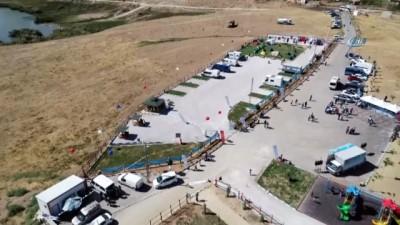 Edremit 'Kamp ve Karavan Merkezi' havadan görüntülendi
