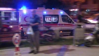 Eşine sarkıntılık ettiği iddia edilen kişiyi ağır yaraladı