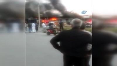 Sanayide yangın çıktı, 3 dükkan zarar gördü
