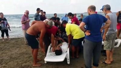 Denize giren 3 kişi boğulma tehlikesi geçirdi - KOCAELİ