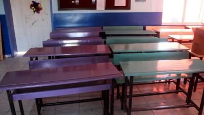 Fedakar öğretmenler okullarını boyadı - VAN