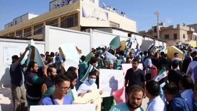 Sağlıkçılar, Esed rejiminin saldırılarını protesto etti - İDLİB