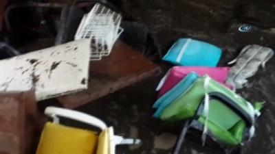 Selde ev ve iş yerleri sular altında kaldı