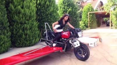 'Uçan motosiklet' hayaliyle motoruna kanat ve pervane taktı - ANTALYA