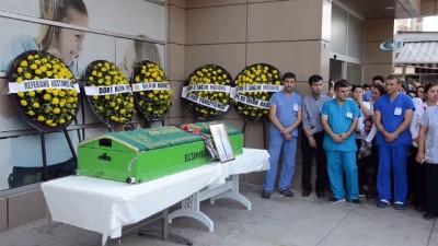 Başhekimi olduğu hastanede ölen genç doktor son yolculuğuna uğurlandı