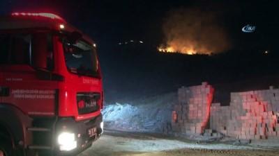 Bayraklı'da ormanlık alan alev alev yandı