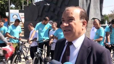 Görme engelliler okula bisikletle gitti - GAZİANTEP
