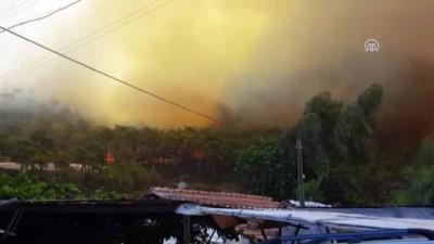 Kumluca ilçesinde orman yangını - ANTALYA