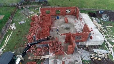 Yaylalarda yıkım yeniden başladı...Yıkım çalışmaları havadan görüntülendi