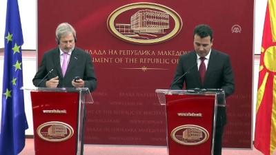 AB Komisyonu Üyesi Hahn Makedonya'da - ÜSKÜP