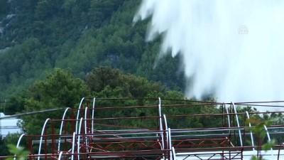 yangina mudahale - Kumluca'daki orman yangınında 70 hektar alan zarar gördü (2)