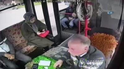 Muhabbet ederek oyaladığı otobüs şoförünün telefonunu böyle çaldı