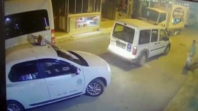 Taksici alkol alıp belediyenin aracını gasp etti... O anlar kamerada Haberi