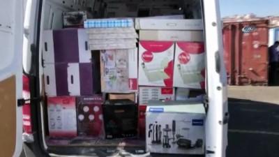 Van'da ev eşyalarının içerisinde 10 bin paket kaçak sigara ele geçirildi
