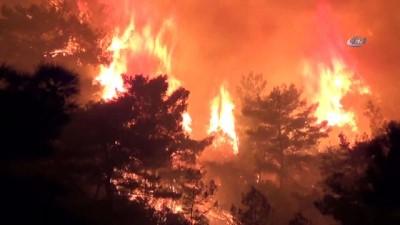 Kemer'de orman yangını devam ediyor