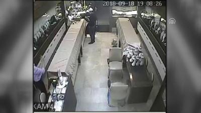 Kuyumcudan hırsızlık güvenlik kamerasında - AKSARAY