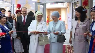 - Emine Erdoğan, Kırgızistan'ta Cengiz Aymatov Salonu'nun açılış törenine katıldı