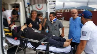 Saldırıya uğrayan 112 personeli kendi acısını unutup kazadaki yaralıları hastaneye taşıdı
