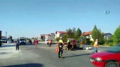 4 kişinin yaralandığı kazanın güvenlik kamera görüntüleri ortaya çıktı