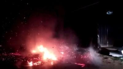 İnegöl'de mobilya imalathanesinde çıkan yangında kundaklama şüphesi... Şüpheli şahıs kamerada
