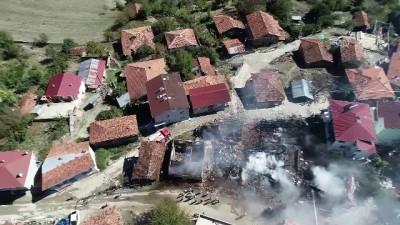 Köyde yangın - Drone görüntüsü - SAMSUN