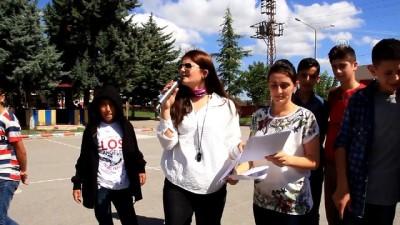 Öğrenciler dünyanın çevresini ölçtü - SAMSUN