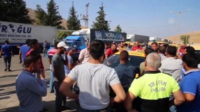 Cilvegözü Sınır Kapısı önünde taksici eylemi - HATAY İzle