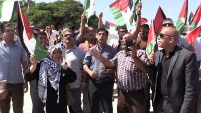 İsrail'in Han el-Ahmer'i yıkma kararını protesto - KUDÜS