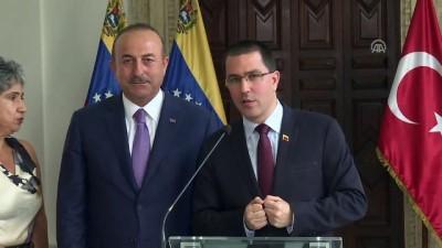 toplanti - Dışişleri Bakanı Mevlüt Çavuşoğlu, Venezuela Dışişleri Bakanı Jorge Arreaza ile ortak basın toplantısı düzenledi(1) - VENEZUELA