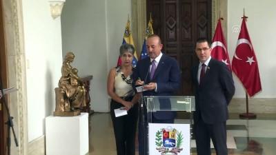 toplanti - Dışişleri Bakanı Mevlüt Çavuşoğlu, Venezuela Dışişleri Bakanı Jorge Arreaza ile ortak basın toplantısı düzenledi(2) - VENEZUELA