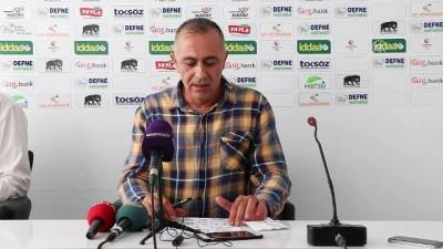 toplanti - Hatayspor - İstanbulspor maçının ardından - Basın toplantısı - HATAY
