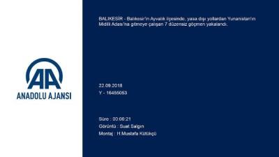 Otomobilde 7 düzensiz göçmen yakalandı- BALIKESİR