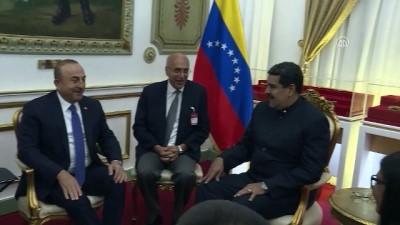 baskent - Venezuela Devlet Başkanı Nicolas Maduro, Dışişleri Bakanı Çavuşoğlu'nu kabul etti - VENEZUELA
