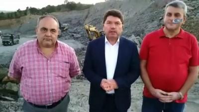 Bartın milletvekili Tunç, bir işçinin hayatını kaybettiği inşaatta dün incelemelerde bulunmuştu