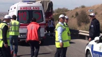 trafik kazasi -  Başkent'te feci kaza: 1 ölü, 3 yaralı
