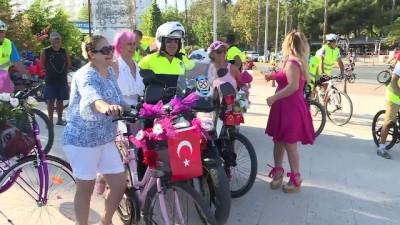 'Süslü Kadınlar Bisiklet Turu' etkinliği - ANTALYA
