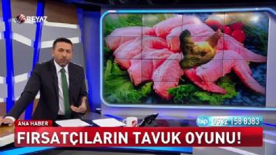 Muhabir çiğ çiğ tavuk yedi