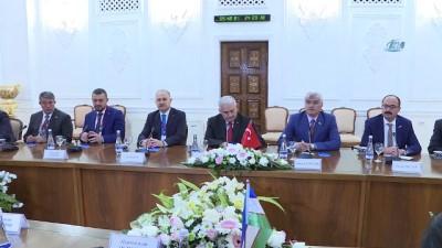 baskent -  - TBMM Başkanı Yıldırım, Özbekistan temaslarına devam ediyor - TBMM Başkanı Binali Yıldırım: 'Bizim kardeşliğimiz geçmişten gelen ,tarihin derinliklerinde gelen bir kardeşliktir'