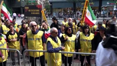 İran Cumhurbaşkanı Ruhani ABD'de Protesto edildi