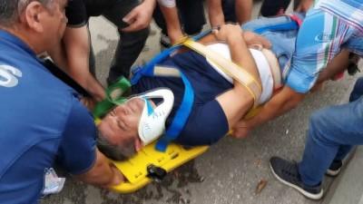 bild -  Samsun'da otomobilin yayaya çarptığı kaza anları kamerada