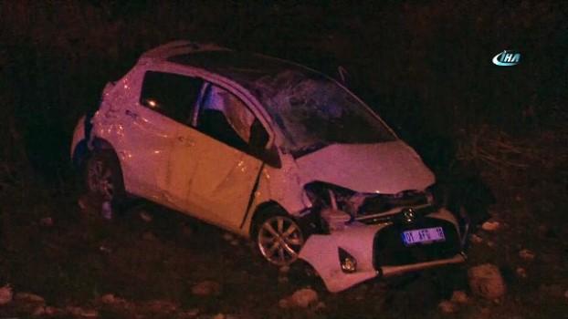 bild -  Alkollü sürücü otomobiliyle şarampole devrildi: 2 yaralı Haberi