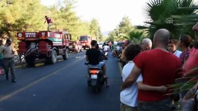 itfaiye araci - Marmaris'te orman yangını - MUĞLA