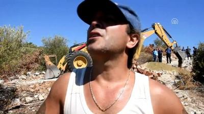 Orman arazisindeki kaçak yapılar yıkıldı - MUĞLA