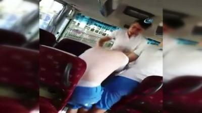 Tur midibüsü şoförlerinden Rus rehbere feci dayak kamerada
