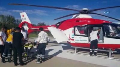 yogun bakim unitesi -  Ambulans Helikopter 5 yaşındaki Havva'nın için geldi