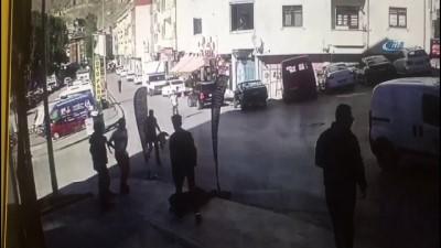 Bisikletli çocuğun yaralandığı feci kaza kamerada
