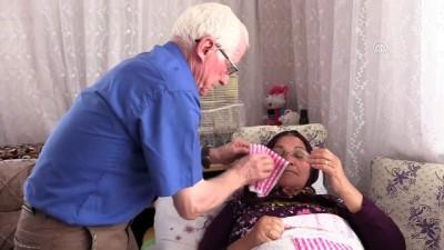 Felçli eşine 22 yıldır sevgiyle bakıyor - AMASYA